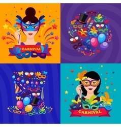 Ball carnival compositions vector