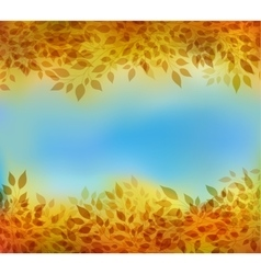 Autumn background with branches and leaves vector image