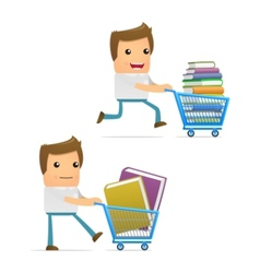 book shopping vector image vector image