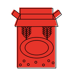 Box with wheat ears emblem icon image vector