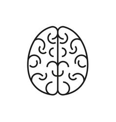 brain icon on white background vector image vector image