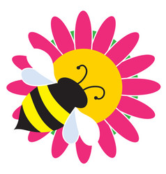 bumble bee on flower vector image vector image