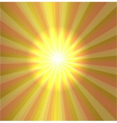 Burst stars light descending on yellow background vector image