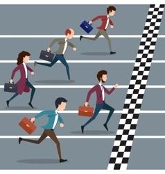 Business people winning marathon vector image vector image