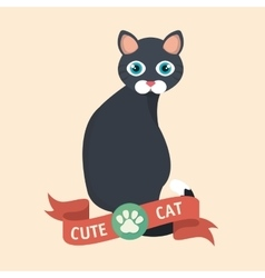 cat pet shop icon vector image
