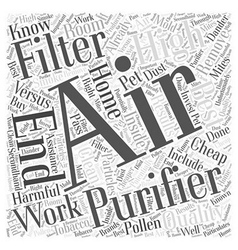 Cheap air filters versus high end air filters word vector