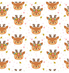 Cute seamless pattern for children with funny vector
