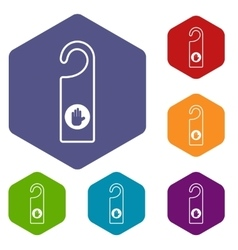 Do not disturb sign icons set vector