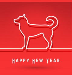 Dog - chinese symbol new year vector