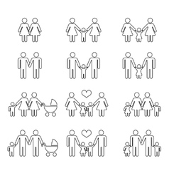 Gay family with children vector image vector image