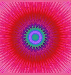 Geometric mandala explosion fractal background - vector