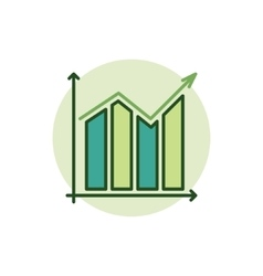 Graph green icon vector