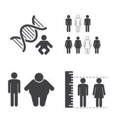 heredity icons vector image vector image