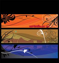 landscape layers vector image