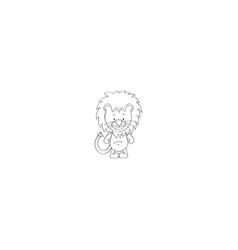 lion cartoon icon vector image