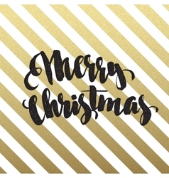 Merry christmas glittering lettering design vector