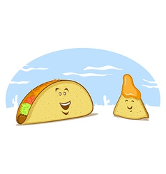Mexican food cartoon vector