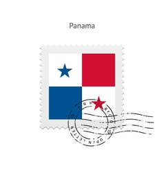 Panama flag postage stamp vector