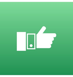 Pointing hand icon hand finger pointer touch vector