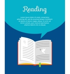 Reading book concept vector image