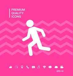 Running man run icon vector
