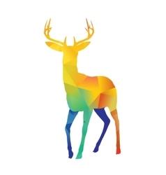 Standing deer vector