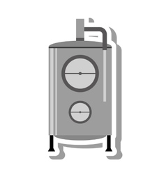 Water heater tank icon vector