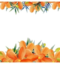 Watercolor flowers frame vector