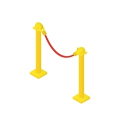 Rope barrier icon cartoon style vector