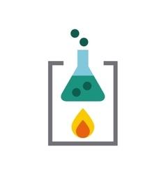 Tube test laboratory line icons vector