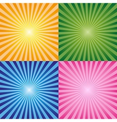 Background rays collection vector image
