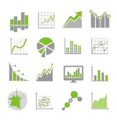 Data analysis signs and financial business vector