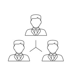 people network line icon vector image
