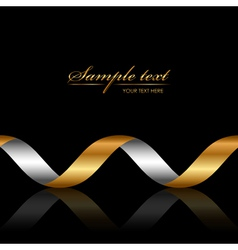 Background with gold ribbon vector