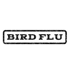 Bird flu watermark stamp vector