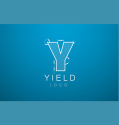 Logo template letter y in the style of a vector