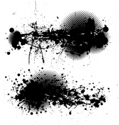 Grunge ink splat pair vector