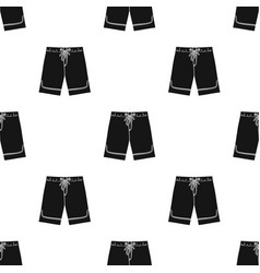 Swimming trunks icon in black style isolated on vector