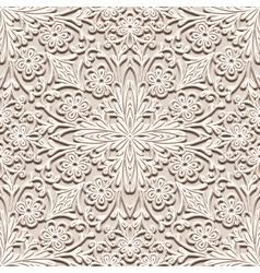 Floral beige pattern vector image