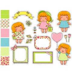cartoon design elements vector image