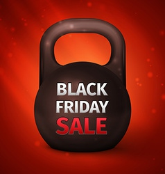 Metal dumbbell black friday sale vector