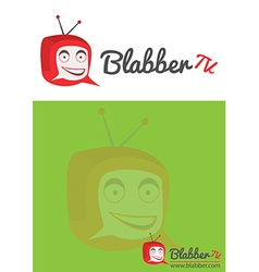 Chating tv or television logo for website vector