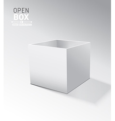 Grey open box with realistic shadows on grey vector