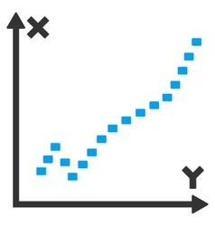Dotted function plot icon vector