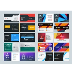 Set of creative and clean business card print vector