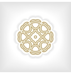 Gold mandala or geometrical figure decorative vector