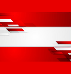 Abstract corporate geometric tech background vector image vector image