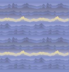 Abstract wavy mountain skyline background cardio vector