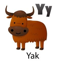 Alphabet y with yak vector