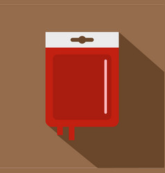 Blood transfusion icon flat style vector
